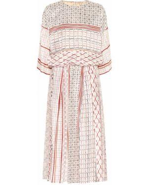 Шелковое платье миди Agnona