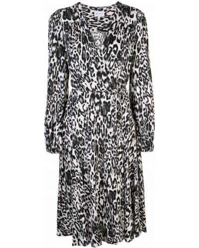 Платье макси с запахом леопардовое Milly