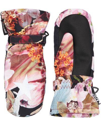 Różowe ciepłe rękawiczki z nylonu Molo