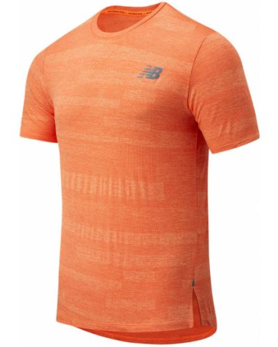 Облегченная красная футболка для бега New Balance