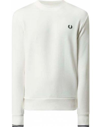 Prążkowana biała bluza bawełniana Fred Perry