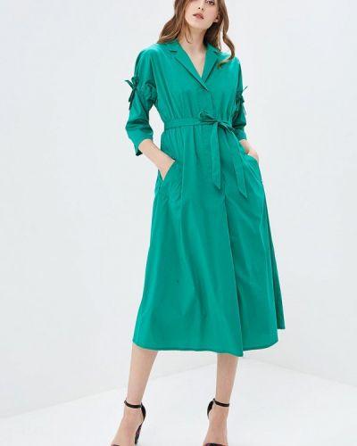 Зеленое платье льняное Parole By Victoria Andreyanova