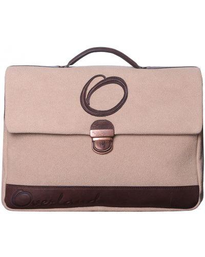 Кожаный портфель - бежевый Overland