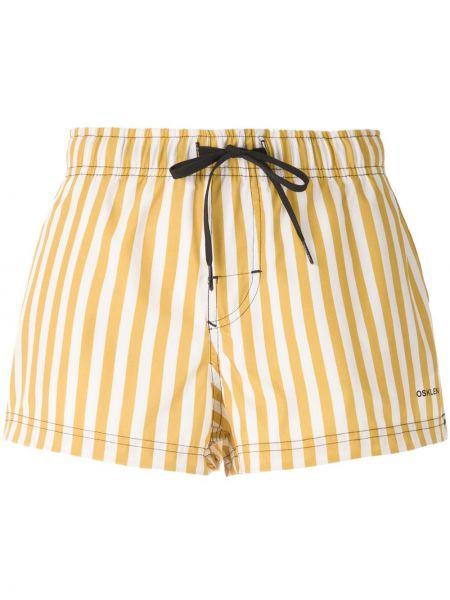 Желтые пляжные короткие шорты Osklen