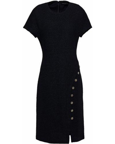 Платье твидовое - черное St. John