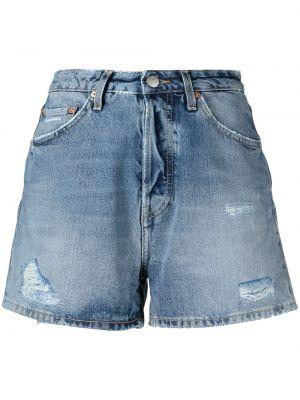 Джинсовые шорты на молнии - синие Haikure