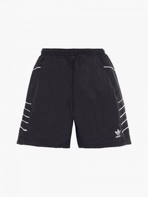 Текстильные черные шорты с карманами Adidas Originals