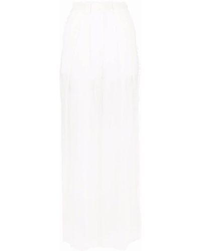 Белые шелковые брюки Krizia