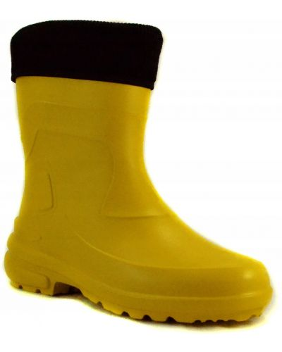 Żółte kalosze materiałowe Lemigo