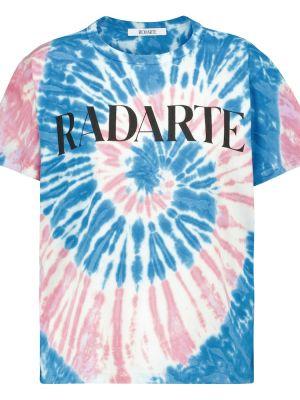 Повседневная хлопковая синяя футболка Rodarte