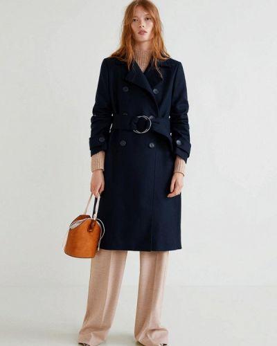 Пальто двубортное осеннее Mango