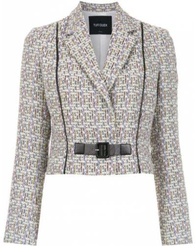 Классический пиджак серый с запахом Tufi Duek