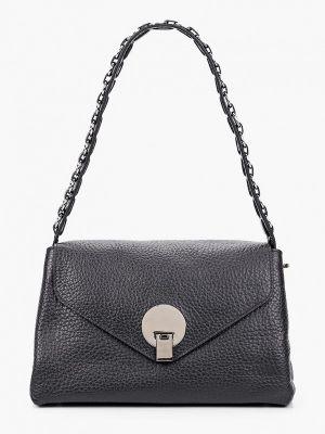 Черная кожаная сумка Basconi