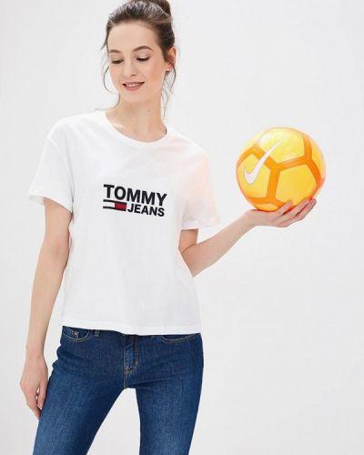 Белая футболка Tommy Jeans