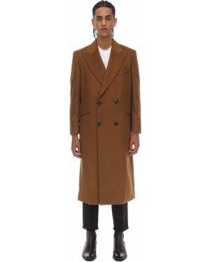 Z kaszmiru brązowy płaszcz Casablanca