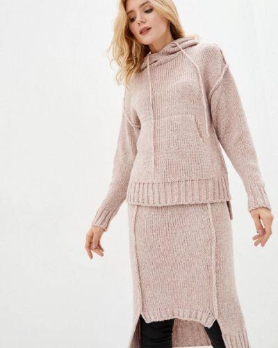 Костюмный розовый вязаный костюм Sewel