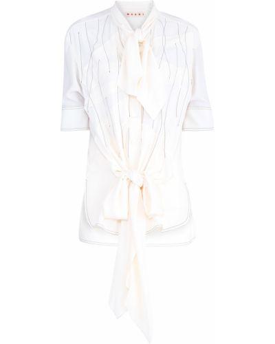 Блузка шелковая из крепа Marni