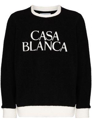 Толстовка с вышивкой - черная Casablanca