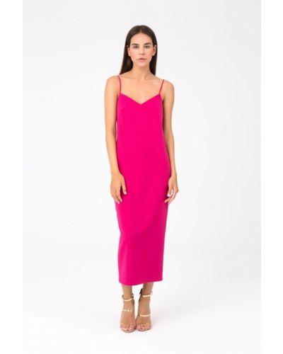 Платье с открытой спиной - малиновое Magnetic
