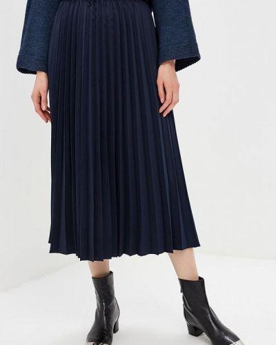 Плиссированная юбка синяя итальянский Miss Miss By Valentina