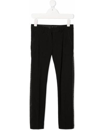 Деловые черные брюки из вискозы с потайной застежкой Karl Lagerfeld Kids