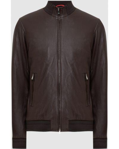 Кожаная куртка - коричневая Isaia