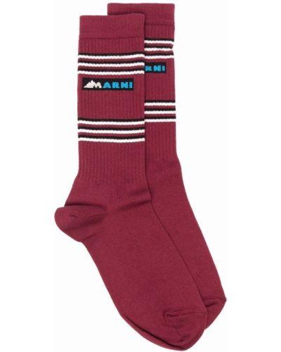 Красные носки в рубчик Marni