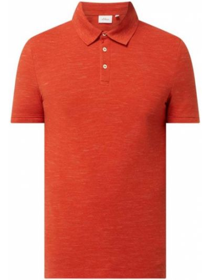 Pomarańczowy t-shirt bawełniany S.oliver Red Label