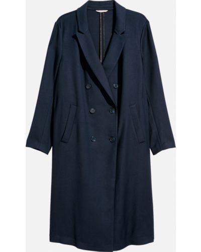 Пальто двубортное - синее H&m