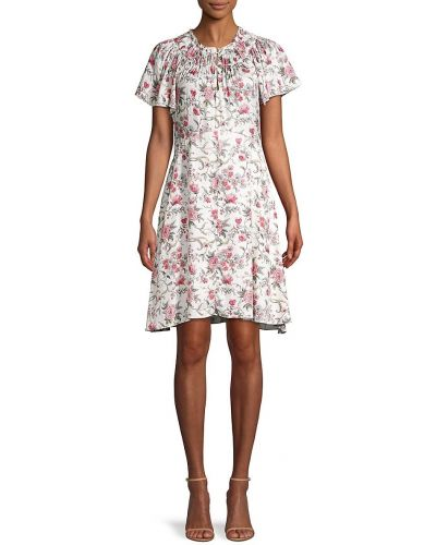 Шелковое приталенное платье с декольте Rebecca Minkoff
