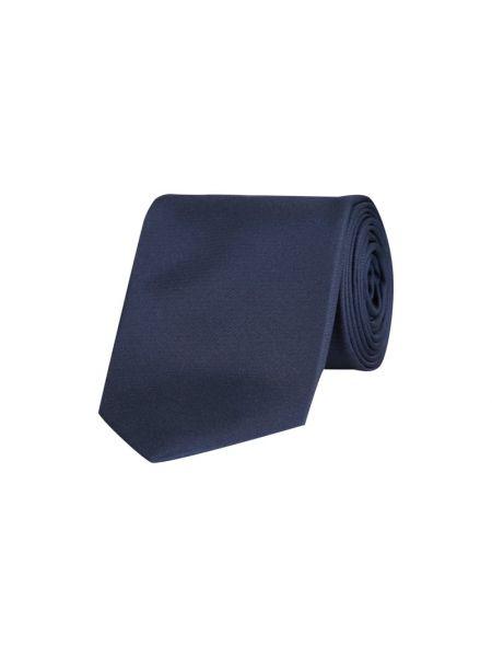 Niebieski klasyczny krawat z jedwabiu Olymp