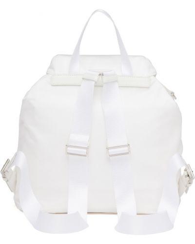 Кожаный белый рюкзак Prada