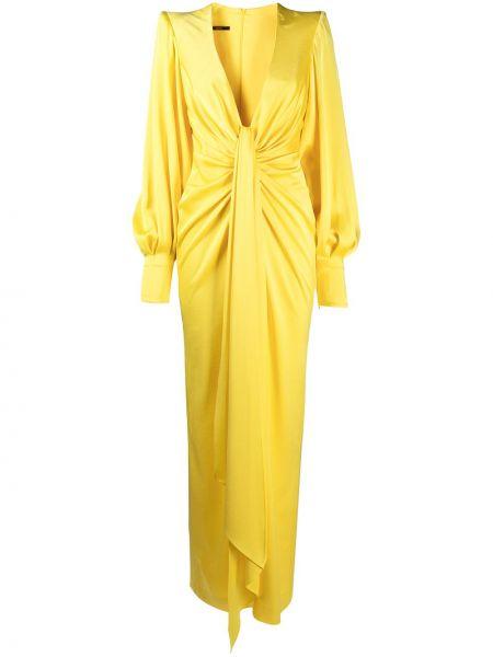 Вечернее платье длинное - желтое Alex Perry