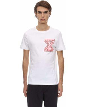 Biały t-shirt bawełniany z printem Christopher Raeburn