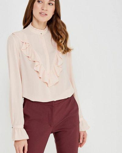Бежевая блузка с рюшами Befree