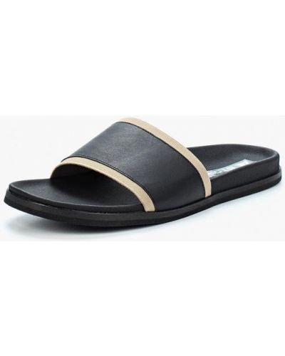 Черные сандалии кожаные Storm