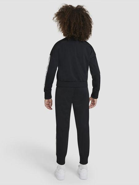 Черный спортивный костюм на молнии в рубчик Nike