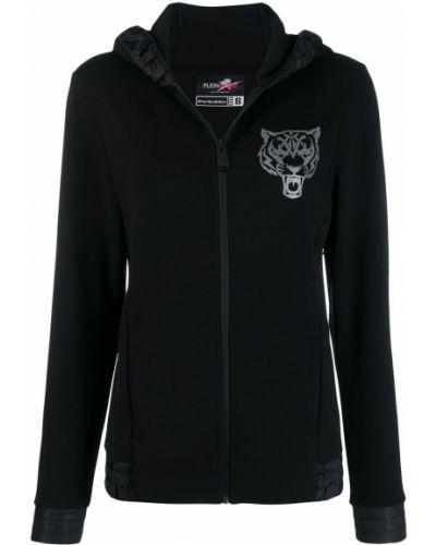 Куртка с капюшоном черная спортивная Plein Sport