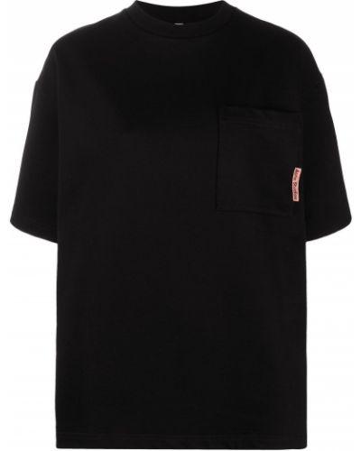 Трикотажная прямая черная футболка Acne Studios