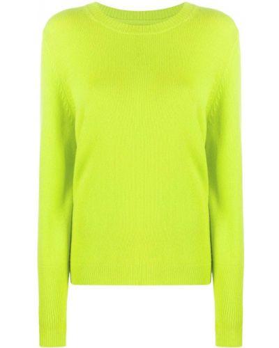 Зеленый кашемировый джемпер круглый с круглым вырезом Chinti & Parker