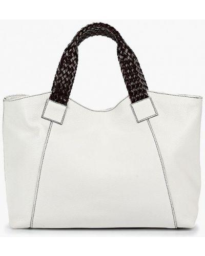 Кожаная сумка шоппер белый Madeleine