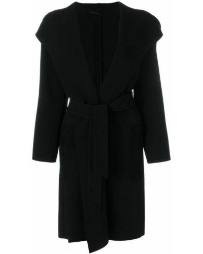 Пальто с капюшоном с запахом из полиэстера Max Mara
