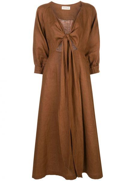 Платье миди с запахом с V-образным вырезом Nicholas
