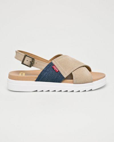 Сандалии на каблуке текстильные Levi's Footwear&accessories