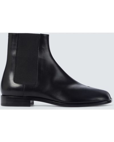 Черные кожаные ботинки челси Maison Margiela