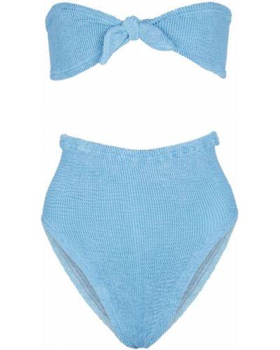 Нейлоновые синие бикини стрейч Hunza G