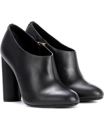 Ботинки на каблуке черные без каблука Tom Ford