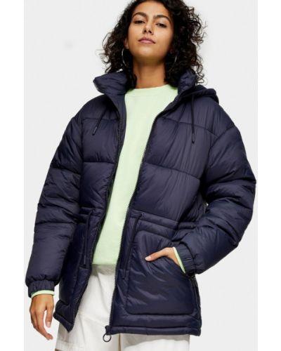 Теплая синяя куртка Topshop