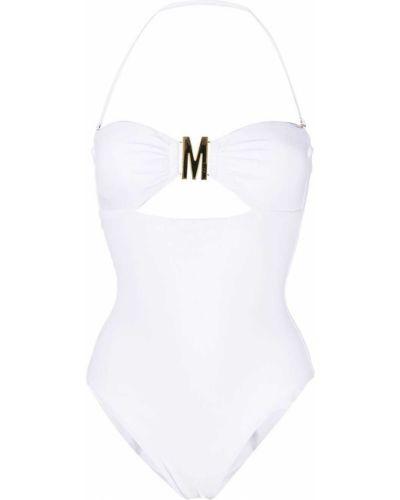 Золотистые белые бикини с оборками Moschino