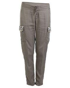 Зеленые брюки милитари Liu Jo